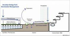 Diagram of storm water management system in Brooklyn Bridge Park. Credit: Brooklyn Bridge Park Conservancy/ Michael Van Valkenburgh Associat...