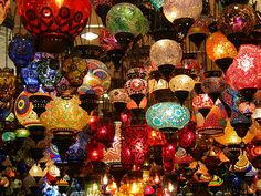 Turkish Mosaic Lamps - love them. Wish we'd been able to bring back a whole bunch of them.
