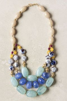 Blurred Blue Necklace | Anthropologie