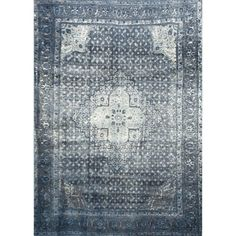 Lowest price online on all Nuloom 9' x 12' Vintage Kellum Rug in Blue - OWTC02A-9012