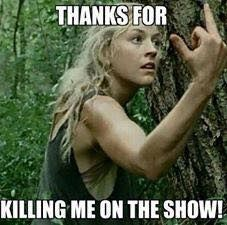 Still can't believe they killed her off... I wasn't a huge fan of the character but I do care for Daryl and Maggie, (although she didn't care much about her sister until 5x8...) and Beth's loss is really hard for them...