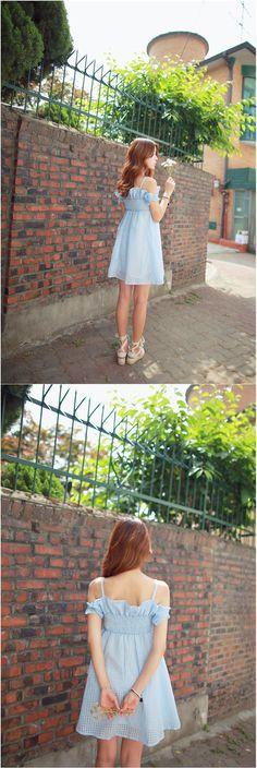 Cute off shoulder dress  #dress #kooding.com #withipun