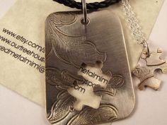 Silver Necklaces / Wedding Jewelry/ Necklace by mixedmetalmimi, $44.95