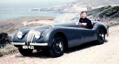 Clark Gable in his Jaguar XK120