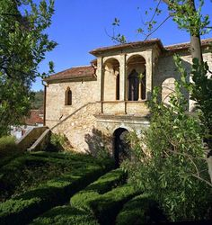 la famosa casa del Petrarca Arquà Petrarca Padova Italia