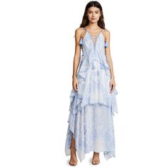 THURLEY Positano Princess Maxi Dress (241.215 HUF) ❤ liked on Polyvore featuring dresses, floral dresses, sleeveless maxi dress, white floral dress, chiffon maxi dress and shift dress