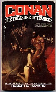 82245-2 ROBERT E. HOWARD (revised and edited by L. SPRAGUE DE CAMP) Conan: The Treasure of Tranicos (cover by Sanjulian).#