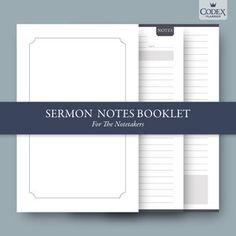 Are you a notetaker in church? This section of the Codex Planner is for you! #codexplanner