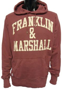 FLMC025 Classic Logo Hooded Sweat by Franklin & Marshall.