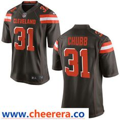 a478084ae Men s Cleveland Browns  31 Nick Chubb Brown Team Color Stitched NFL Nike  Game Jersey