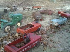 Pedal Cars. My Dad had these.