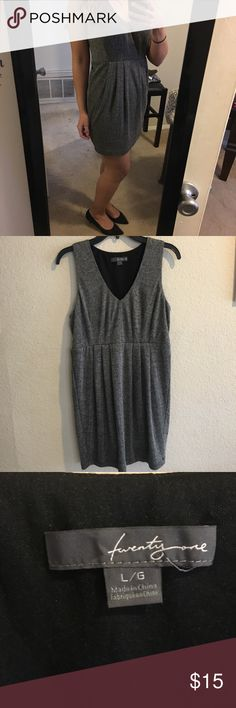Forever 21 gray dress Prefect for girls night, a date, or going to a club! Never worn, just wasn't my style and I removed the tags. Labeled large, but it fits more like a medium. I'm a true medium and it seems I needed to size up haha Forever 21 Dresses Mini