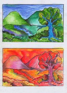 Wonderful Screen coloring frios Ideas To be able to a young child, there's not everything much better than a brand new colouring book plus an innovative co Middle School Art, Art School, Color Art Lessons, Arte Elemental, Warm And Cool Colors, 4th Grade Art, Cool Art Projects, Art Lessons Elementary, Elements Of Art