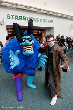 Blue Meanie and Tenth Doctor