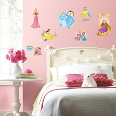 RoomMates Decor Disney Princess Friendship Adventures Peel-and-Stick Wall Decals
