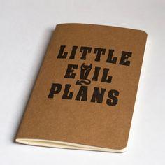 Little Evil Plans Moleskine Notebook