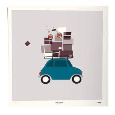 Poster unterwegs 50x50 cm limitierte Auflage Bunt Pleased to meet Limitierte Ausgabe von 250 Exemplaren, Handsigniert und nummeriert vom Künstler Materialien : Papier 50 x 50 cm. Details : In einem Rohr geliefert Hergestellt in : Deutschland