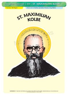 St. Maxmilian Kolbe OFM Conv. (Convectual Franciscan Friar and Priest) - A3 Poster (STP899)
