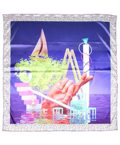 SIXPACK FRANCE × PARA ONE : RIDDLE SEA SCARF (ALL OVER) - RADD LOUNGE ラドラウンジ