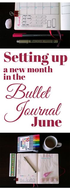 Setting Up a New Month in the Bullet Journal June