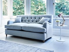 This is how I look in House Wool Clouded Sky with siliconized hollow fibre or feather-wrapped foam seat cushions 3 Seater Sofa Bed, Sofa Beds, Large Sofa Bed, Blue Leather Sofa, Sofa Uk, Sofa Colors, Colours, Blue Bedroom, Seat Cushions