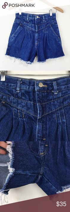 caa49d40 VTG Western Denim Cutoff Mom Shorts Bareback Rodeo + Heavyweight cotton  denim - NO STRETCH +
