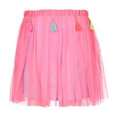Kinderkleding fashion Mim Pi Meisjes Rok Jovie Neon Roze   Love The color   Mim Pi Zomer 2014    www.kienk.nl