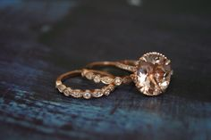 Hey, I found this really awesome Etsy listing at https://www.etsy.com/listing/462310599/diamond-rose-gold-morganite-engagement