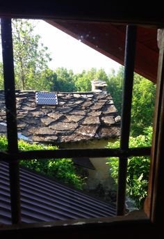 Rustic roof at the montain