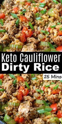 Comida Keto, Keto Cauliflower, Healthy Cauliflower Recipes, Loaded Cauliflower Casserole, Keto Side Dishes, Main Dishes, Healthy Low Carb Recipes, Easy Diabetic Recipes, Easy Recipes