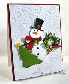 What an adorable Snowman card by Kittie Caracciolo!
