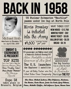Personalized Birthday Board Old Newspaper Poster with