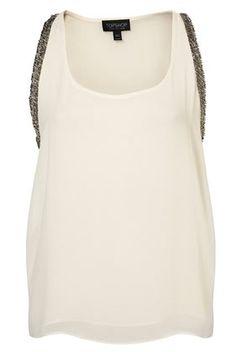 Embellished Sleeve Vest - StyleSays