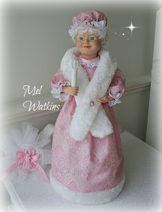 Pink brocade Mrs Claus that my mum made <3