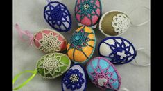 FREE & Easy Crochet pattern - Works up fast using simple stitches, small amount of yarn and embellishments that you probably already have in your stash at home. Easter Crochet Patterns, Crochet Patterns Amigurumi, Thread Crochet, Easy Crochet, Nail Art Designs Videos, Holiday Crochet, Crochet Videos, Egg Decorating, Easter Crafts
