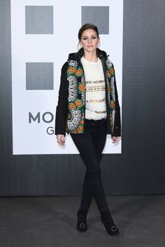 Olivia Palermo attends Moncler Genius during Milan Fashion Week on February 20 2018 in Milan Italy