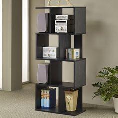 Modern Cube Bookcase Storage Stand Display Book Shelf Home Furniture Decor Black Black Bookshelf, 4 Shelf Bookcase, Corner Shelves, Box Shelves, Display Shelves, Storage Shelves, Contemporary Bookcase, Modern Bookcase, Creative Bookshelves