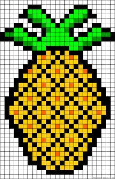 """Pineapple chat, could be used to make a """"pixel crochet blanket"""" or in """"tapestry"""" crochet too or fairisle knitting! Description from pinterest.com. I searched for this on bing.com/images"""