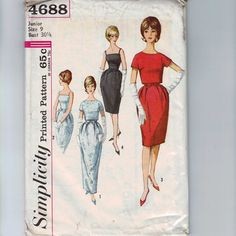 1960s Vintage Sewing Pattern Simplicity by historicallypatterns, $15.00