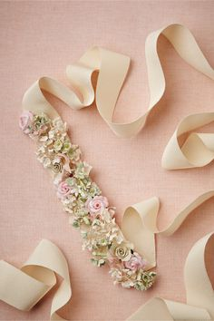 These are my wedding colors! 2bad its $200 Juillet Sash in Bride Bridal Accessories at BHLDN
