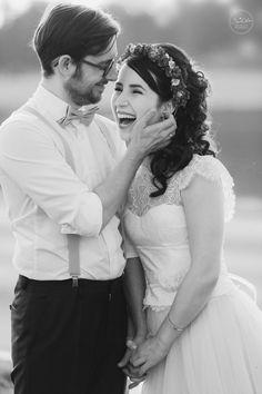 Real Wedding in einem Hochzeitskleid von SILK & HONEY Haute Couture