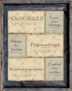 custom barnwood frames house rules framed print 2399 http
