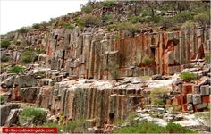 Ancient rock formations called the Organ Pipes, Gawler Ranges, South Australia                                                                                                                                                                                 More