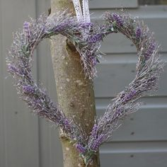 The Wedding of My Dreams - Lilac Lavender Heart Hanging Wreath  #wedding