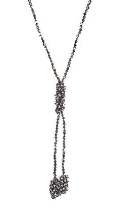 by Alyssa Lee  Cluster Tie Necklace