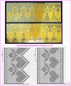 MIRIA CROCHÊS E PINTURAS: BARRADOS DE CROCHÊ N°421