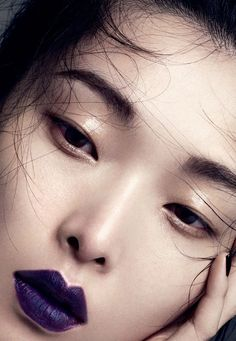 """""""base work"""": sung hee for vogue china october 2013. I need this lip color!"""