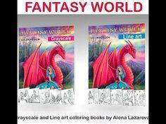 Fantasy World Line Art Edition by Alena Lazareva