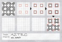 Aztec - tangle pattern by perfectly4med, via Flickr