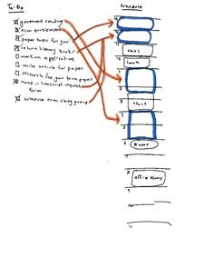 """""""Don't Use a Daily To-Do List"""": picture example of time-blocking (an alternative to typical to-do list)"""